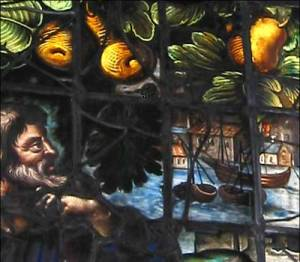 Detail of Jonah window from Christ Church College, Oxford, borrowed from http://www.chch.ox.ac.uk/cathedral/visitor-information/what-to-look-for/stained-glass